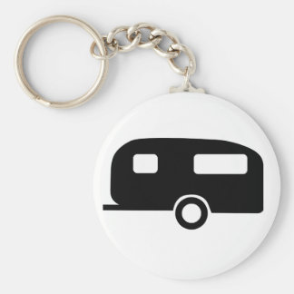 Retro Caravan Basic Round Button Key Ring