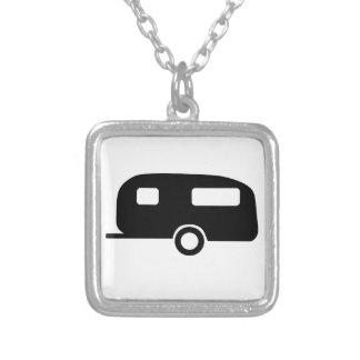 Retro Caravan Silver Plated Necklace
