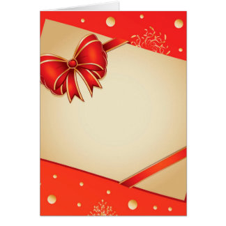 Retro card with red bow