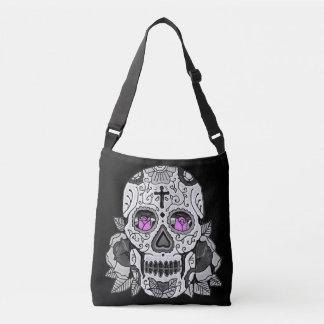 Retro Carnival Sugar Skull Your Choice of Color Crossbody Bag
