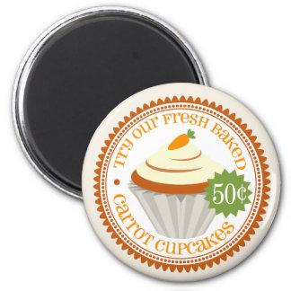 Retro Carrot Cake Magnet