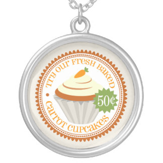 Retro Carrot Cupcake Custom Necklace