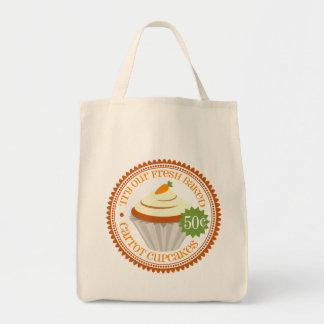 Retro Carrot Cupcake Tote Bag