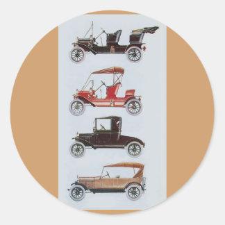 RETRO CARS 2- Auto repair automotive brown Stickers