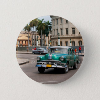 Retro cars on the Havana street 6 Cm Round Badge
