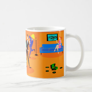 Retro Cartoon Cocktail Party Coffee Mug