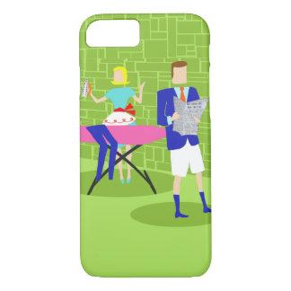 Retro Cartoon Couple at Home iPhone 7 Case