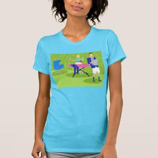 Retro Cartoon Couple at Home T-Shirt