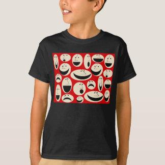 Retro Cartoon Faces Pattern T-Shirt