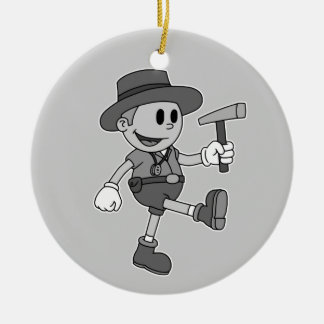 Retro Cartoon Geologist (Add Your Name) Christmas Ornament
