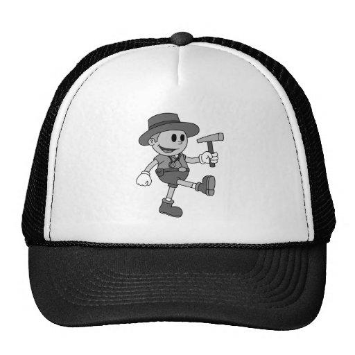 Retro Cartoon Geologist Print Trucker Hat