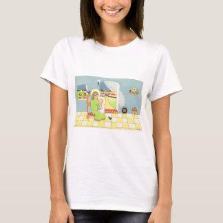 Retro cartoon, Mary with baby Jesus T-Shirt