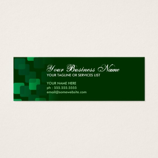 retro cascades mini business card