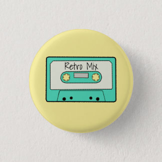 Retro Cassette 3 Cm Round Badge