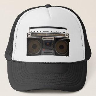 retro cassette player music stereo tape vintage trucker hat