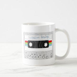 Retro cassette tape 80s style coffee mug