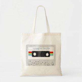 Retro cassette tape 80s style tote bag