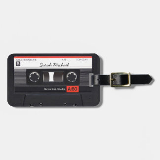 Retro Cassette tape Custom Luggage Tags