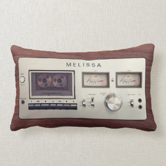 Retro Cassette Tape Recorder Unique Funny Look Lumbar Cushion