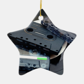 Retro Cassette Tapes Ceramic Star Decoration