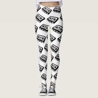 Retro Cassette Tapes Leggings