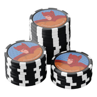 Retro Cat-Man Poker Chips Set