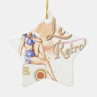 Retro Ceramic Star Decoration