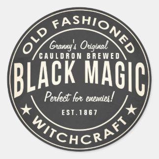 Retro chalkboard Black magic halloween sticker