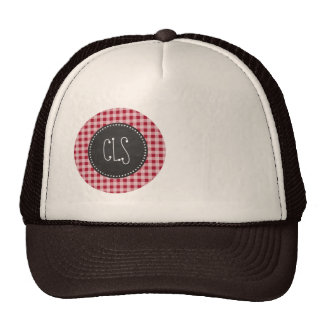 Retro Chalkboard; Carmine Red Gingham; Checkered Hats