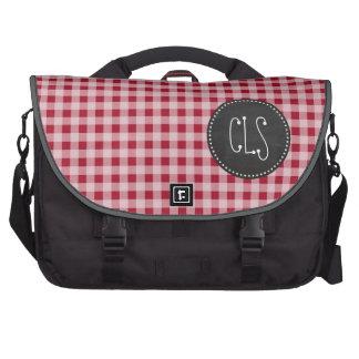 Retro Chalkboard; Carmine Red Gingham; Checkered Commuter Bag