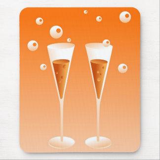Retro Champagne Mouse Pad