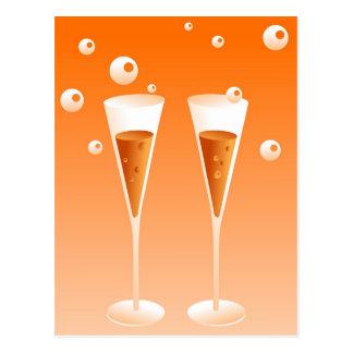 Retro Champagne Postcard