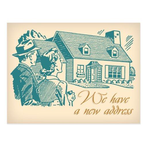 Retro Change of Address Postcard