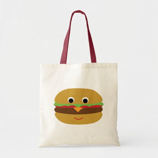 Retro Cheeseburger Canvas Bag