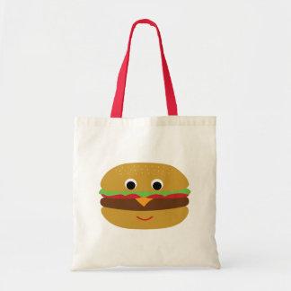 Retro Cheeseburger Budget Tote Bag