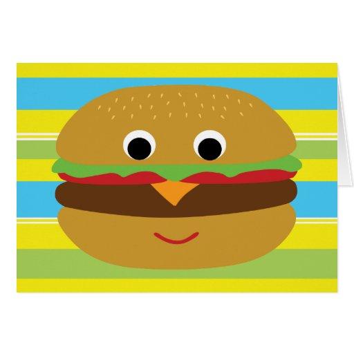 Retro Cheeseburger Greeting Card