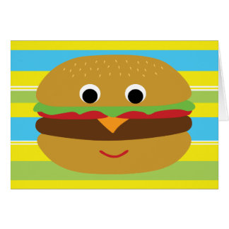 Retro Cheeseburger Greeting Card
