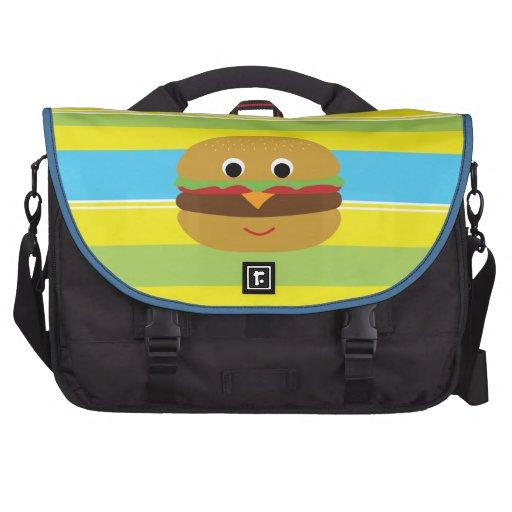 Retro Cheeseburger Laptop Commuter Bag