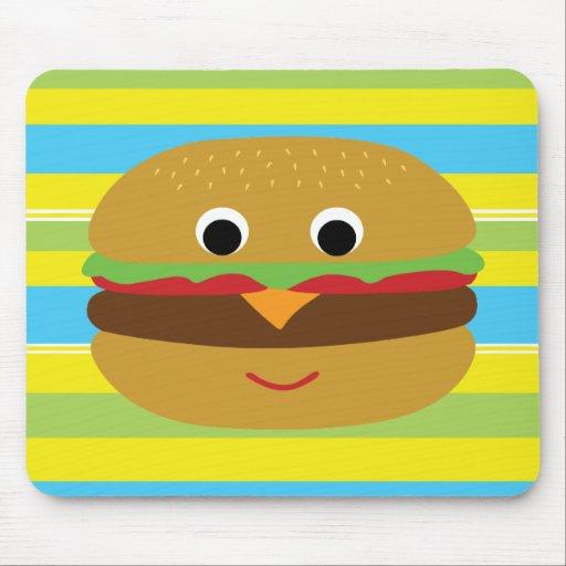 Retro Cheeseburger Mouse Pad