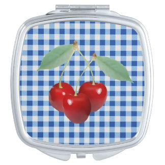 Retro Cherries Compact Mirror