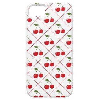 Retro Cherry Argyle iPhone 5 Cases