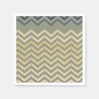 Retro Chevron Pattern Paper Napkins