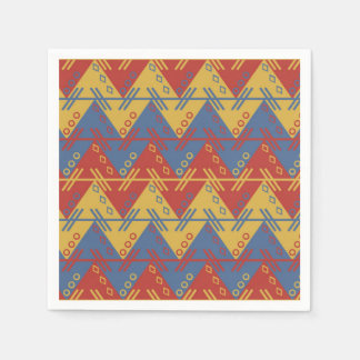 Retro Chevron tricolor Pattern Disposable Serviettes