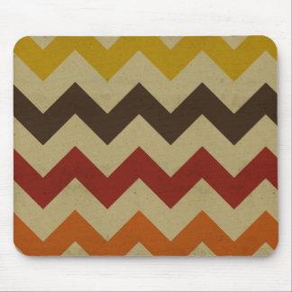 Retro chevron zigzag stripes zig zag pattern chic mouse pads