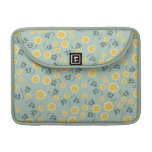 Retro chic buttercup floral flower girly pattern sleeve for MacBooks