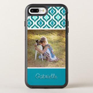 Retro Chic Custom Ikat Ogee Drop Pattern OtterBox Symmetry iPhone 8 Plus/7 Plus Case
