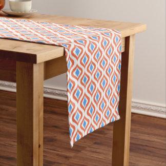 Retro Chic Orange Blue Ikat Drops Pattern