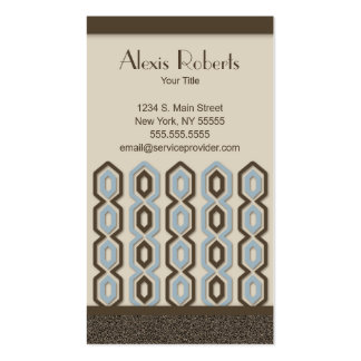 Retro Chic Pattern Business Card