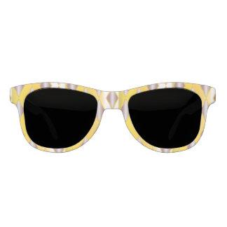 Retro chic yellow white gray rockabilly sunglasses
