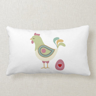 Retro Chicken and Egg Pillow